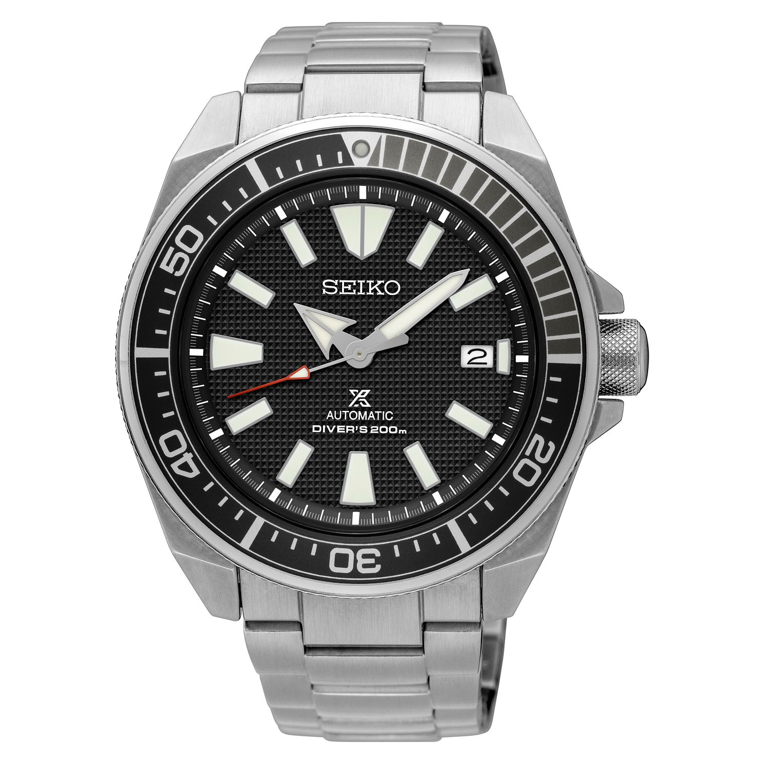 Seiko Prospex Samurai Men's Stainless Steel Black Watch - Product number 8402477