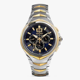 Seiko Coutura Men's Yellow Gold Plated Chronograph Watch - Product number 8402515