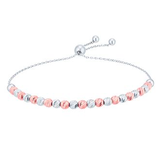 9ct White Gold & Rose Gold Adjustable Bracelet - Product number 8404364
