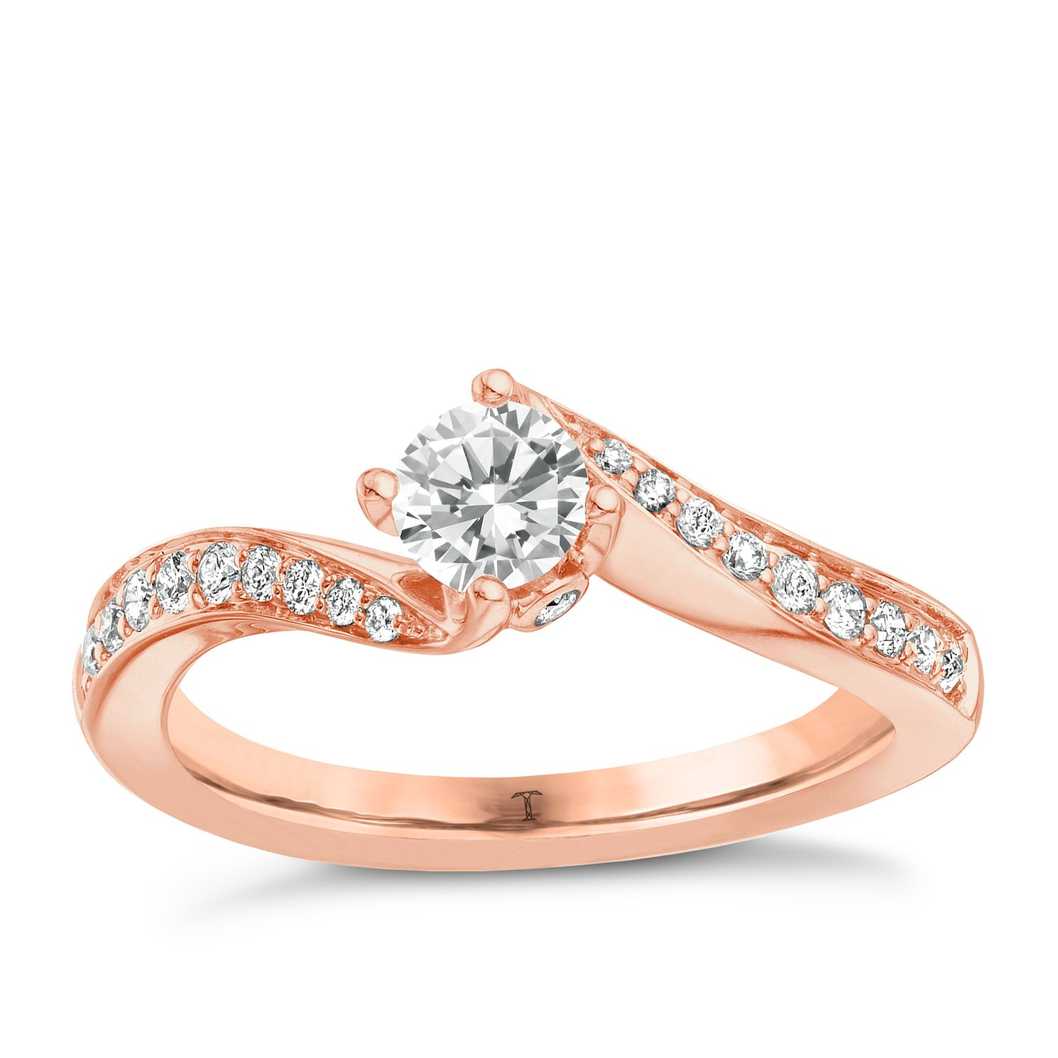 Tolkowsky 18ct Rose Gold 1/3ct Diamond Ring - Product number 8411549