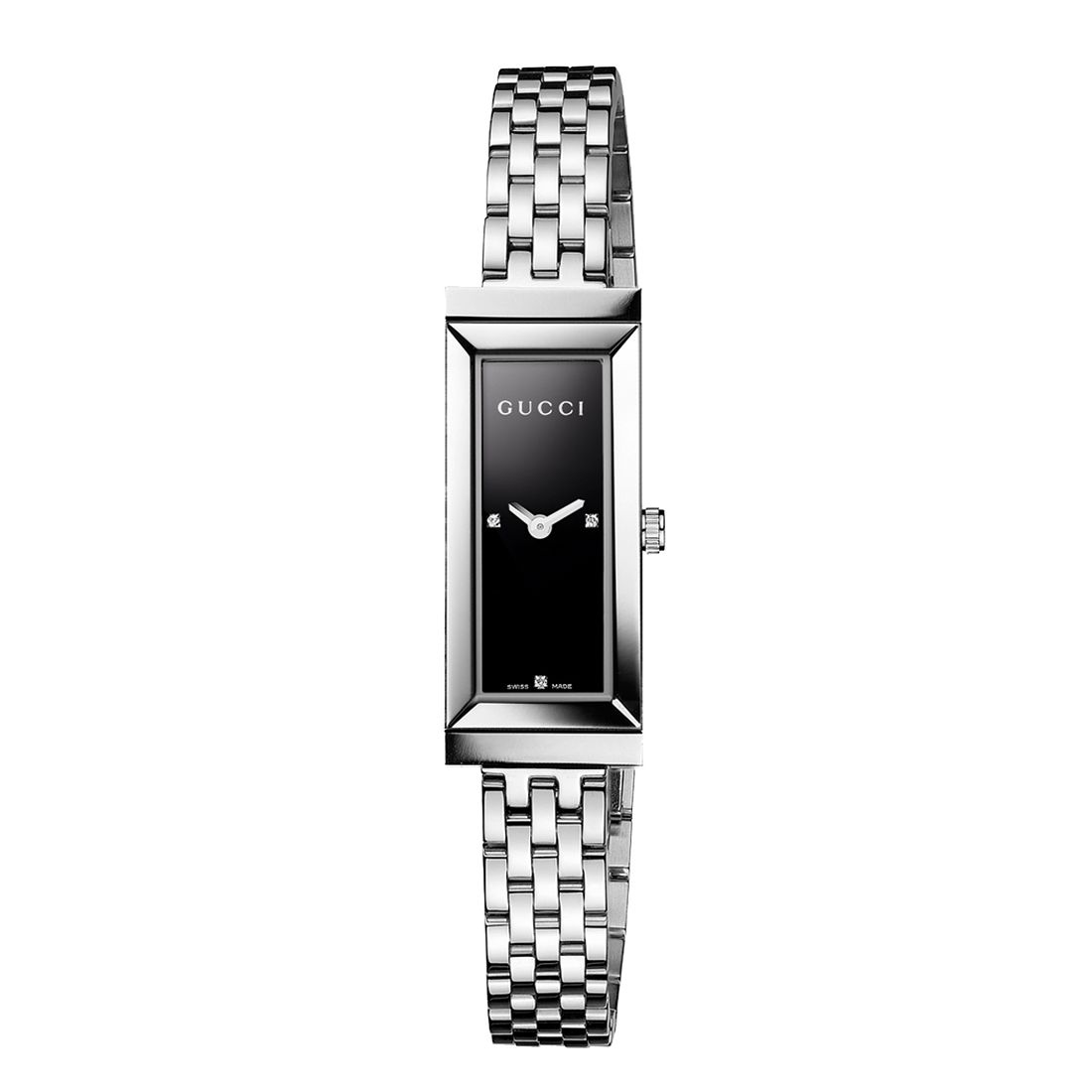 Gucci G-Frame Diamond Stainless Steel Bracelet Watch - Product number 8415242