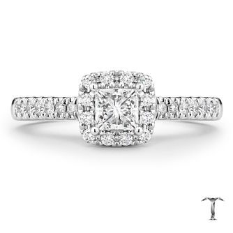 Tolkowsky Platinum 2/3ct Princess Cut Diamond Ring - Product number 8416648