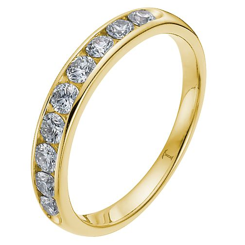 Tolkowsky Yellow Gold 1/4ct I-I1 Diamond Ring - Product number 8417040
