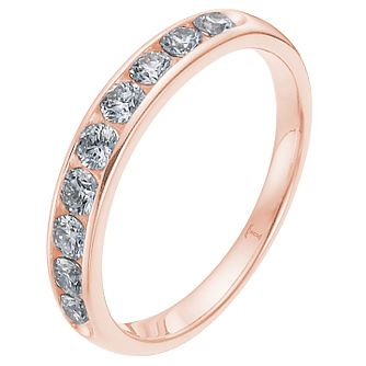 Tolkowsky Rose Gold 1/4ct I-I1 Diamond Ring - Product number 8417202