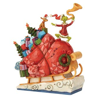 Dr Seuss Grinch On The Sleigh Figurine - Product number 8417458