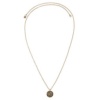 DKNY Large Token Logo Yellow Gold Plated Pendant - Product number 8419434