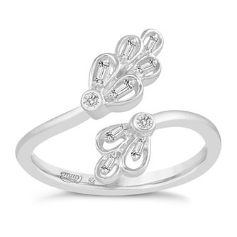Emmy London 9ct White Gold 1/10ct Open Diamond Ring - Product number 8421552