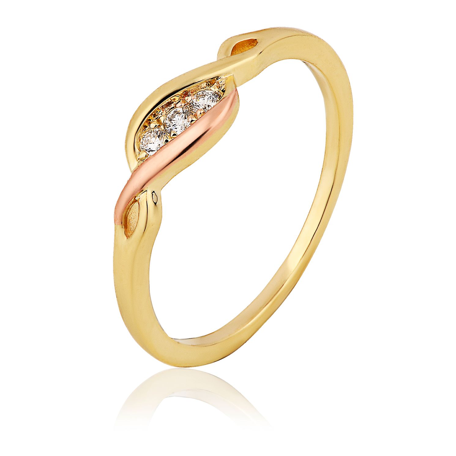 Clogau 9ct Gold Past Present Future Diamond Ring - Product number 8423156