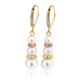 Silver Mother Of Pearl Pear Drop Earrings - Product number 3045978