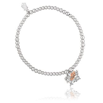 Clogau Silver & 9ct Rose Gold Welsh Dragon Bead Bracelet - Product number 8423342