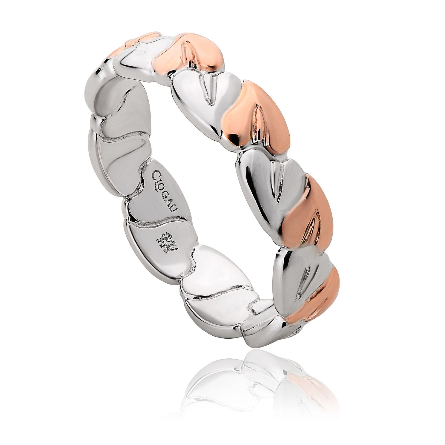 Clogau Silver & 9ct Rose Gold Tree Of Life Ring - Product number 8423377