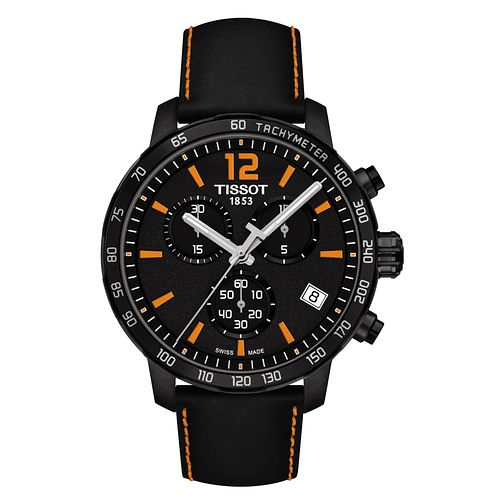 Tissot Quickster Men's Black Ion Plated Chronograph Watch - Product number 8424381