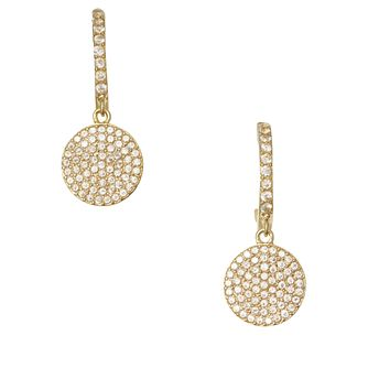 Kate Spade Gold Tone & Cubic Zirconia Shine On Drop Earrings - Product number 8424632