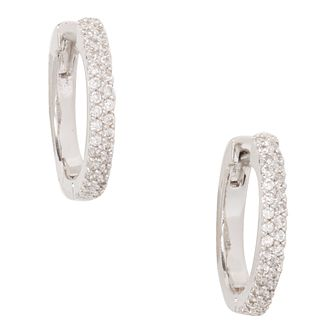 Kate Spade Rhodium Plated Save The Date Small Hoop Earrings - Product number 8424667