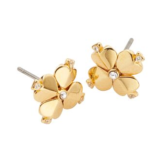 Kate Spade Gold Tone Legacy Logo Spade Flower Stud Earrings - Product number 8425388