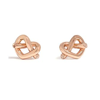 Kate Spade Loves Me Knot Rose Gold Tone Stud Earrings - Product number 8425515