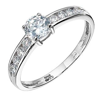 9ct White Gold Cubic Zirconia Solitaire Ring - Product number 8428395