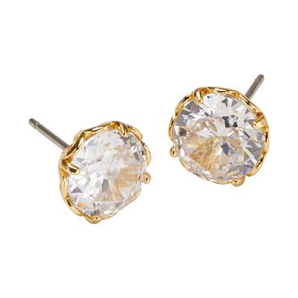 Kate Spade Gold Tone That Sparkle Stone Set Earrings - Product number 8429286