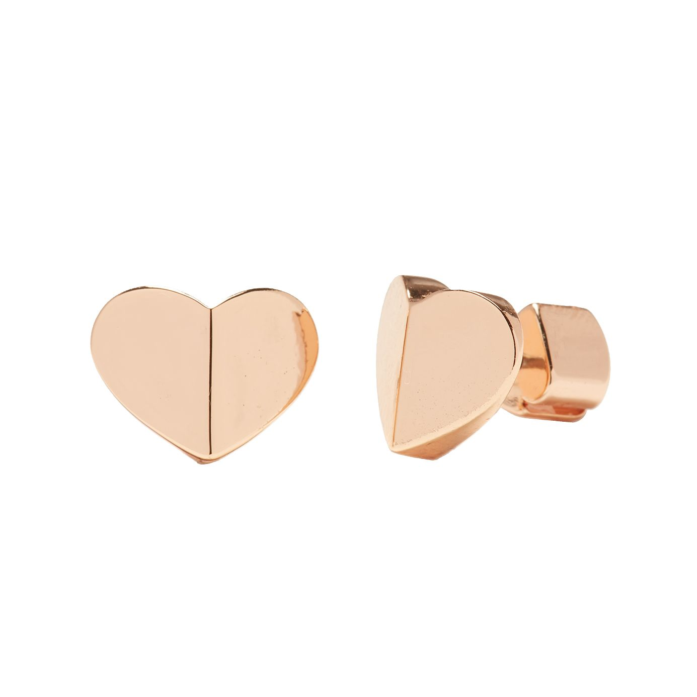 Kate Spade Rose Gold Tone Heritage Heart Small Stud Earrings - Product number 8430713