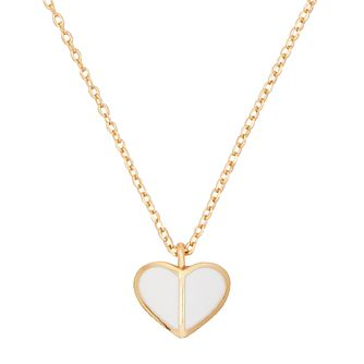 Kate Spade Gold Tone & White Enamel Heritage Heart Pendant - Product number 8431159