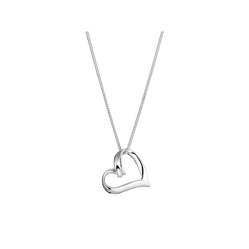 Sterling Silver Heart Pendant by H.Samuel