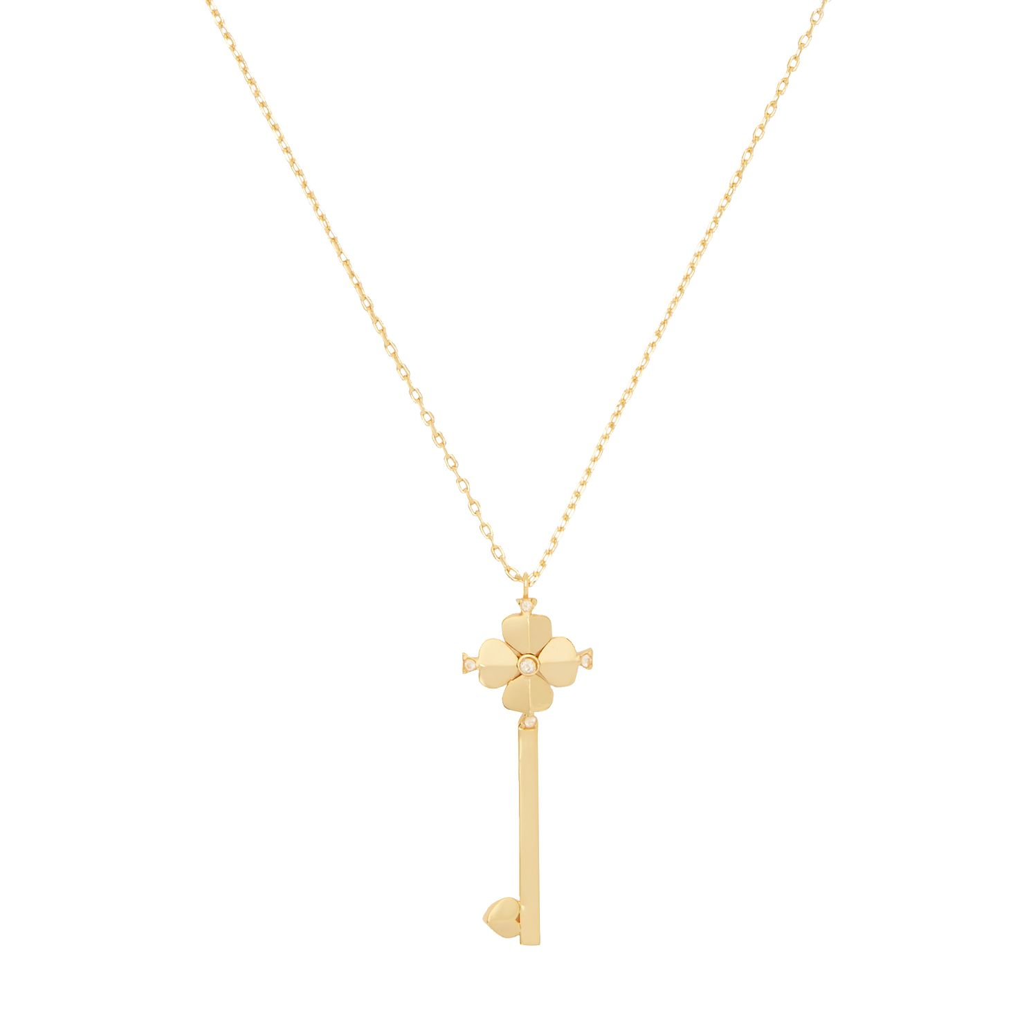 Kate Spade Gold Tone Lock & Spade Small Legacy Key Pendant - Product number 8431809