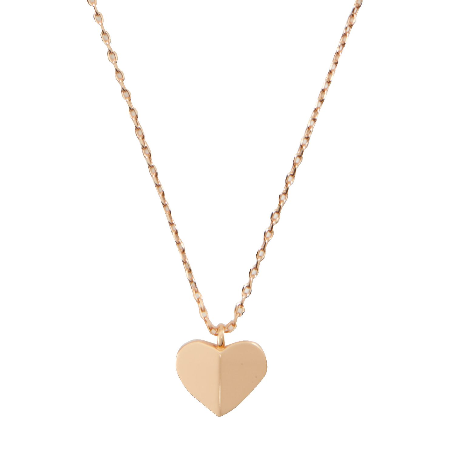 Kate Spade Rose Gold Tone Heritage Heart Pendant - Product number 8431876