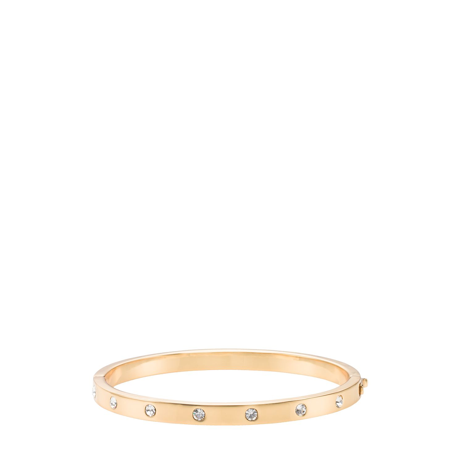 Kate Spade Gold Tone Set In Stone Cubic Zirconia Bangle - Product number 8431930