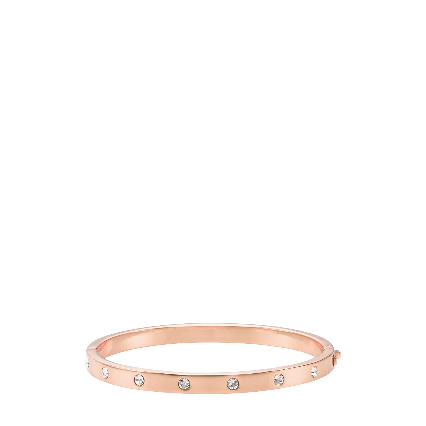 Kate Spade Rose Gold Tone Set In Stone Cubic Zirconia Bangle - Product number 8431981