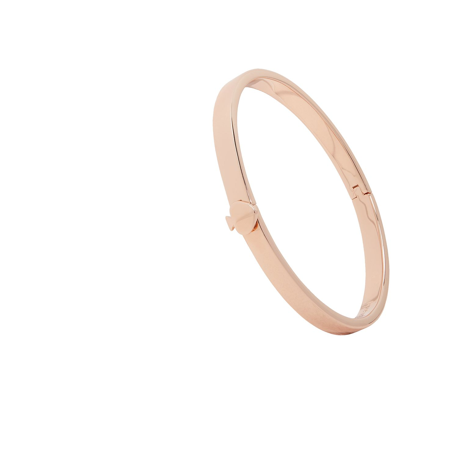 Kate Spade Rose Gold Tone Heritage Spade Thin Button Bangle - Product number 8432104