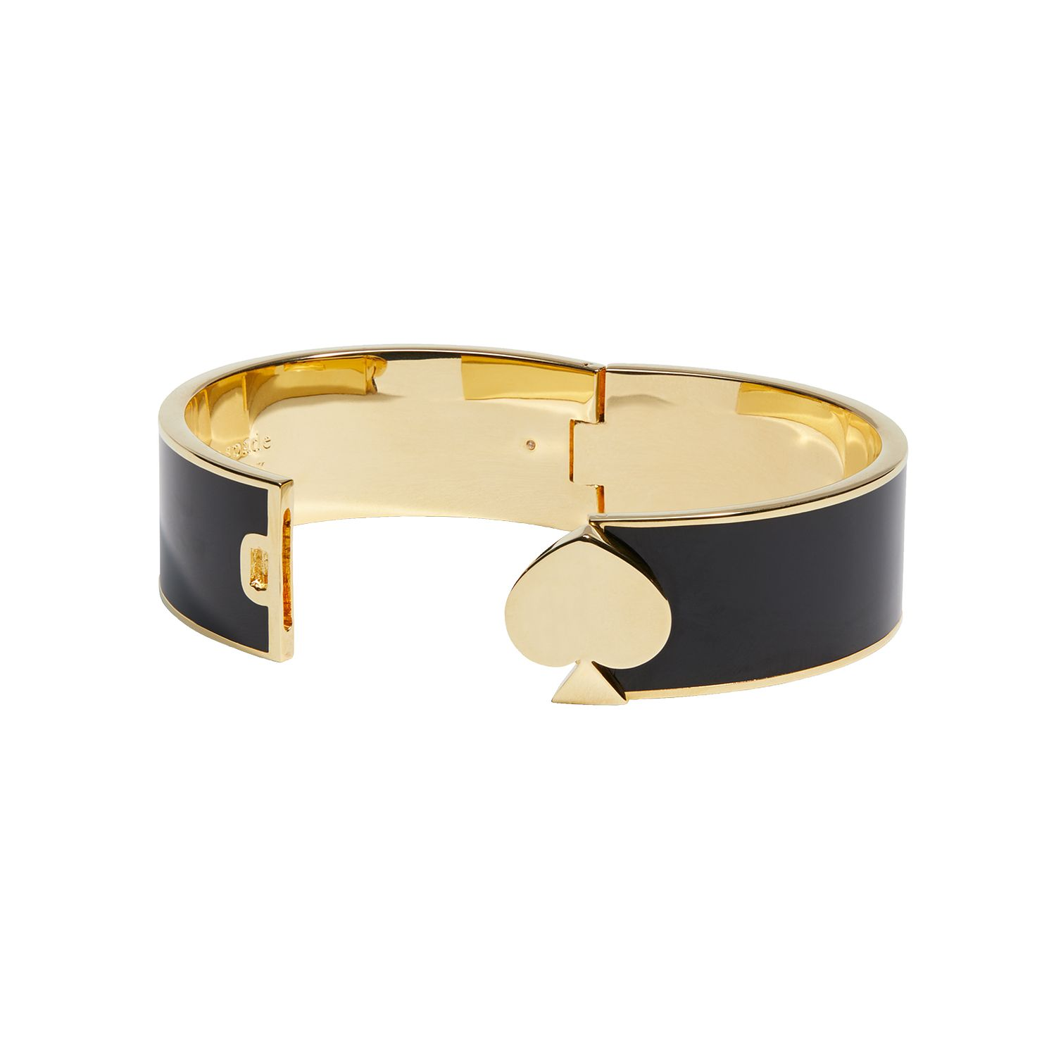 Kate Spade Gold Tone & Black Enamel Heritage Bangle - Product number 8432449