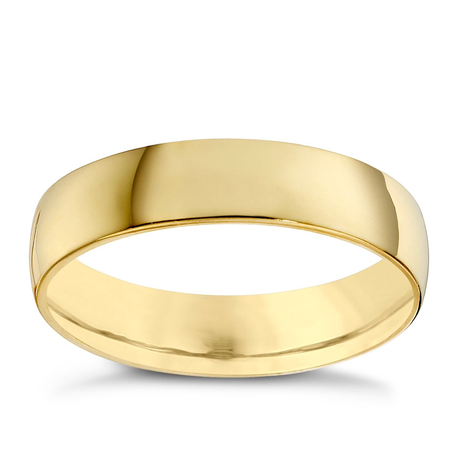22ct Yellow Gold 5mm Extra Heavy Court Ring - Product number 8440743