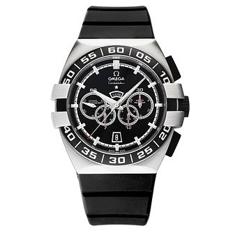 Omega Double Eagle men's black rubber strap watch - Product number 8442576