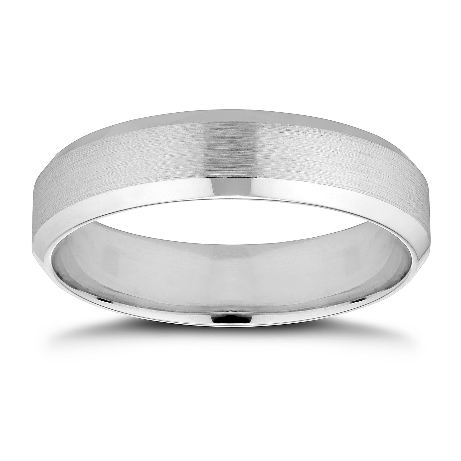 9ct White Gold 5mm Wedding Ring - Product number 8444919