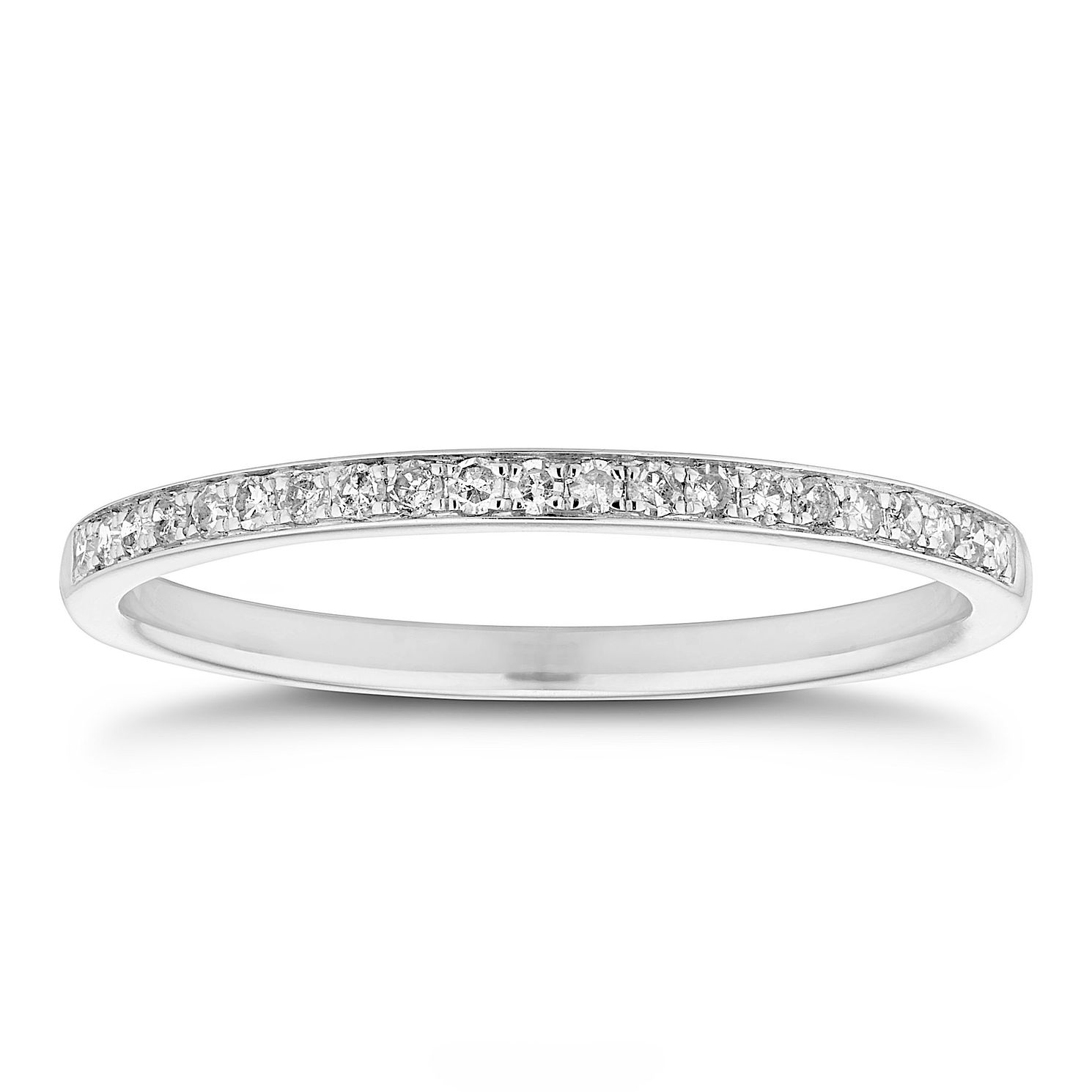 18ct White Gold 1/10ct Diamond Ring - Product number 8463611