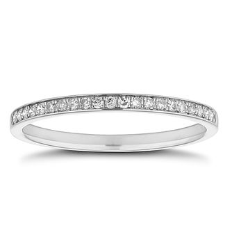 Platinum 0.10ct Diamond Band - Product number 8467080