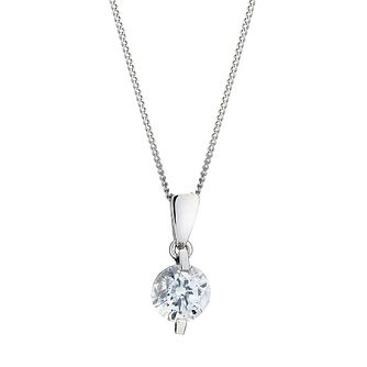 9ct White Gold Cubic Zirconia Pendant - Product number 8467196