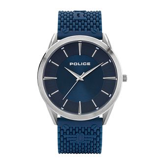 Police Patriot Men's Blue Silicone Strap Watch - Product number 8467951