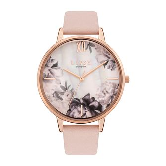 Lipsy Floral Ladies' Nude PU Strap Watch - Product number 8468060