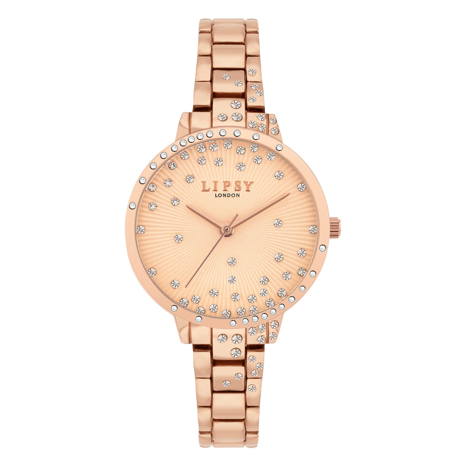 Lipsy Glitz Dial Ladies' Rose Gold Tone Bracelet Watch - Product number 8468079