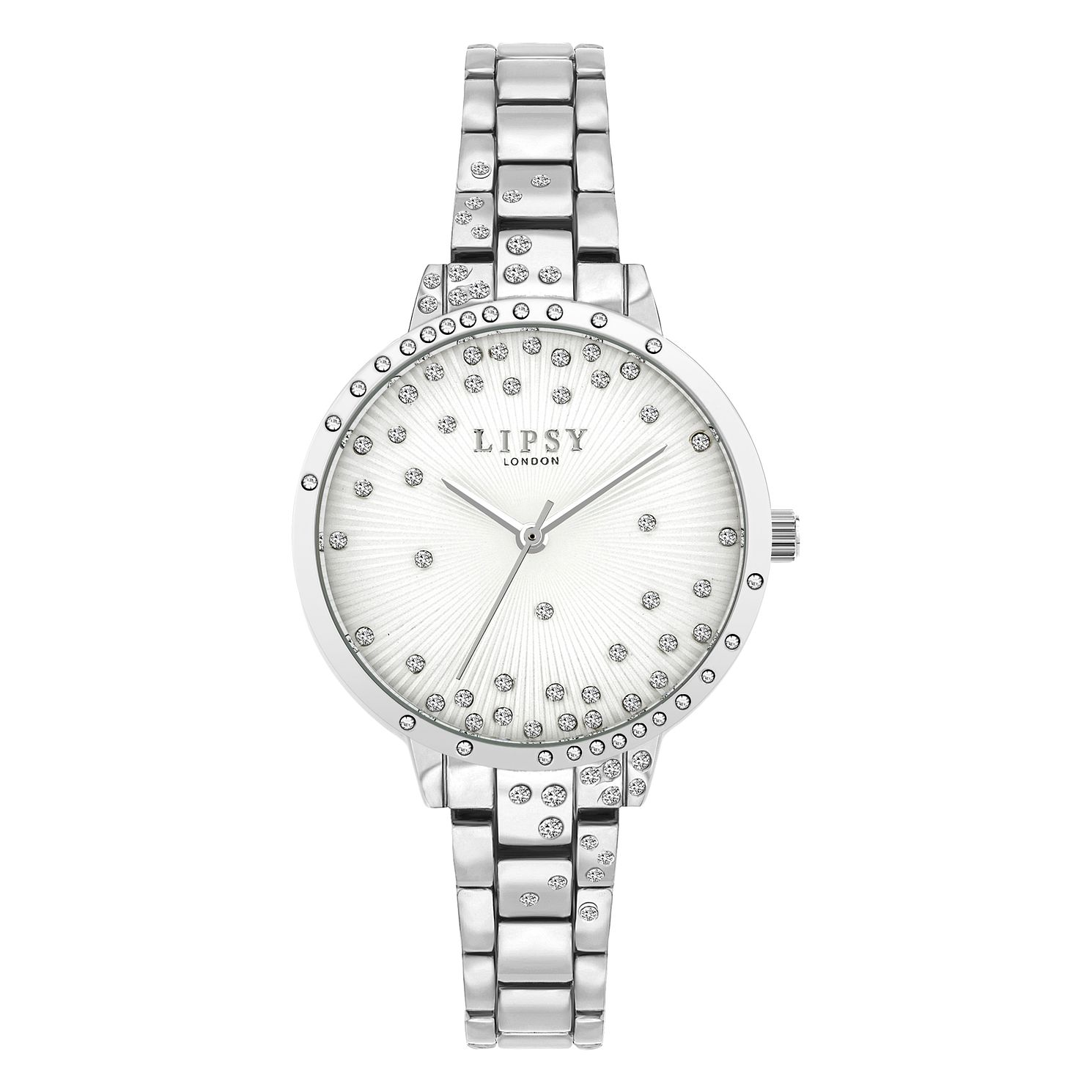 Lipsy Glitz Dial Ladies' Silver Tone Bracelet Watch - Product number 8468095