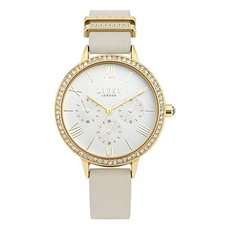 Lipsy Crystal Ladies' Mink PU Strap Watch - Product number 8468133