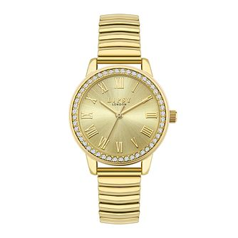 Lipsy Crystal Ladies' Gold Tone Expander Bracelet Watch - Product number 8468141