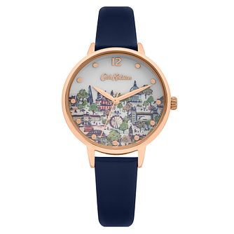 Cath Kidston Navy Leather Strap With Printed Dial Watch - Product number 8468427