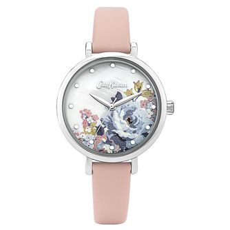 Cath Kidston Somerset Rose Ladies' Pink Leather Strap Watch - Product number 8468443