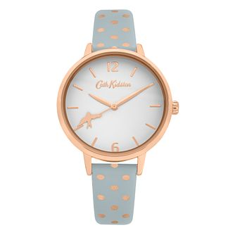 Cath Kidston Button Spot Ladies' Grey PU Strap Watch - Product number 8468478