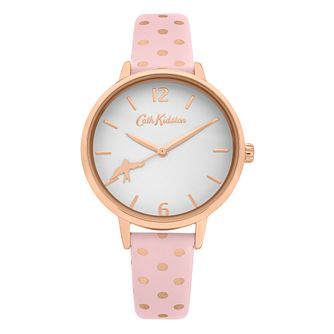 Cath Kidston Button Spot Ladies' Pink PU Strap Watch - Product number 8468486