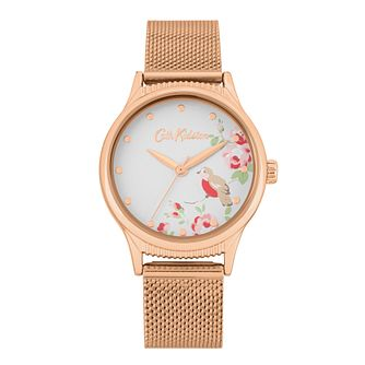 Cath Kidston Little Bird Rose Gold Tone Mesh Bracelet Watch - Product number 8468508