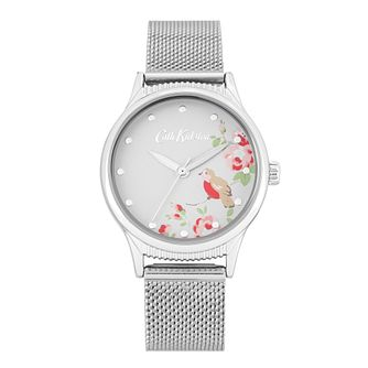 Cath Kidston Little Bird Stainless Steel Mesh Bracelet Watch - Product number 8468532