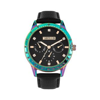 Missguided Ladies' Multi-Dial Black PU Strap Watch - Product number 8468540